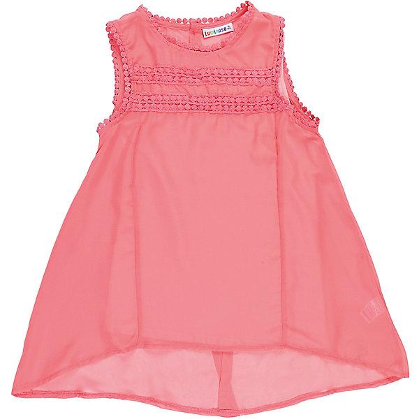 Блузка для девочки LuminosoБлузки и рубашки<br>Элегантная шифоновая блузка для девочки. Комплектуется маечкой. Декорированна плетеным кружевом. Сзади застегивается на две маленькие пуговки.<br>Состав:<br>Верх: 100% полиэстер, Подкладка: 95%хлопок 5%эластан<br>Ширина мм: 186; Глубина мм: 87; Высота мм: 198; Вес г: 197; Цвет: розовый; Возраст от месяцев: 96; Возраст до месяцев: 108; Пол: Женский; Возраст: Детский; Размер: 134,164,158,152,146,140; SKU: 5413312;