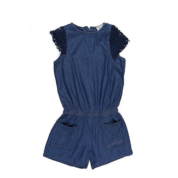 Комбинезон джинсовый для девочки LuminosoДжинсовая одежда<br>Комбинезон из тонкой хлопковой ткани под джинсу для девочки. Рукава крылышки. Два накланых кармана. Талия собрана на мягкую резинку. Застежка на спинке на молнию.<br>Состав:<br>100%хлопок<br>Ширина мм: 215; Глубина мм: 88; Высота мм: 191; Вес г: 336; Цвет: синий; Возраст от месяцев: 108; Возраст до месяцев: 120; Пол: Женский; Возраст: Детский; Размер: 140,134,164,158,152,146; SKU: 5413490;