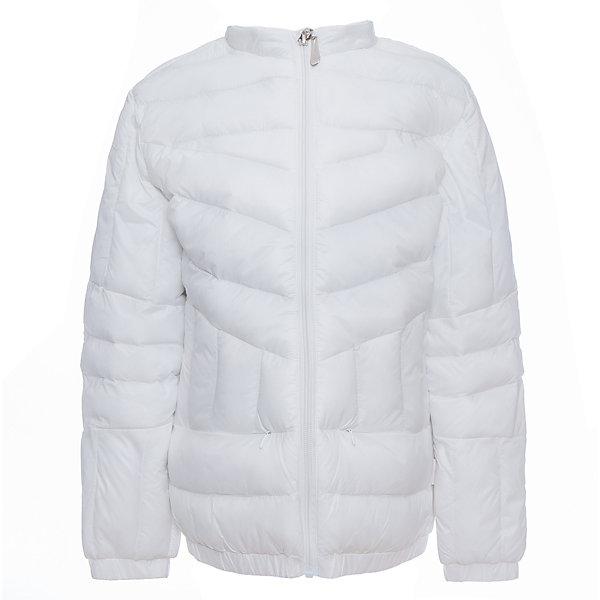 Куртка для девочки LuminosoВерхняя одежда<br>Легкая и стильная, стеганая куртка для девочки с воротником-стойкой. Потайные карманы на молнии. Застегивается на молнию.<br>Состав:<br>Верх: 100%нейлон.  Подкладка: 100%полиэстер. Наполнитель: 100%полиэстер<br>Ширина мм: 356; Глубина мм: 10; Высота мм: 245; Вес г: 519; Цвет: белый; Возраст от месяцев: 108; Возраст до месяцев: 120; Пол: Женский; Возраст: Детский; Размер: 140,134,164,158,152,146; SKU: 5413517;