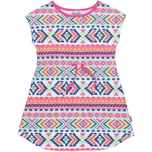 Платье для девочки LuminosoПлатья и сарафаны<br>Трикотажное платье для девочки из принтованной ткани с пояском. Приталенный крой.<br>Состав:<br>95%хлопок 5%эластан<br>Ширина мм: 236; Глубина мм: 16; Высота мм: 184; Вес г: 177; Цвет: белый; Возраст от месяцев: 120; Возраст до месяцев: 132; Пол: Женский; Возраст: Детский; Размер: 146,140,134,164,158,152; SKU: 5413626;