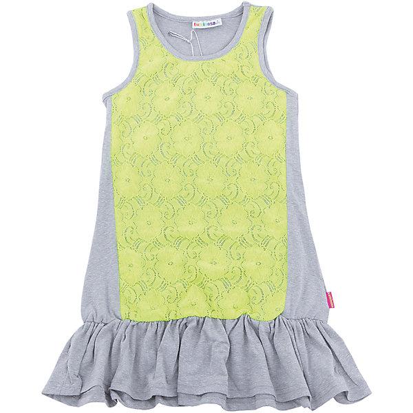Платье для девочки LuminosoПлатья и сарафаны<br>Трикотажное платье для девочки декорированное контрастным кружевом и воланом по низу изделия. Свободный крой.<br>Состав:<br>48%полиэстер 36%вискоза  11.7%хлопок 4.3%эластан<br>Ширина мм: 236; Глубина мм: 16; Высота мм: 184; Вес г: 177; Цвет: белый; Возраст от месяцев: 108; Возраст до месяцев: 120; Пол: Женский; Возраст: Детский; Размер: 140,134,164,158,152,146; SKU: 5413654;