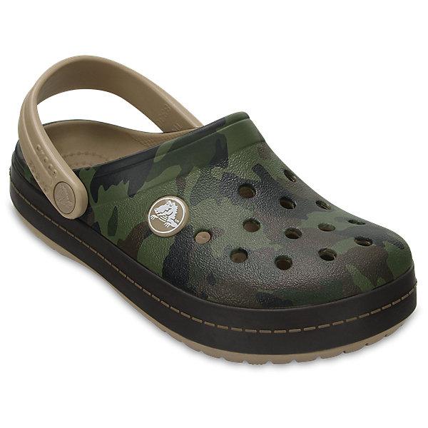 Сабо Kids Classic для мальчика CROCSПляжная обувь<br>Характеристики товара:<br><br>• цвет: хаки<br>• сезон: лето<br>• тип: пляжная обувь<br>• материал: 100% полимер Croslite™<br>• под воздействием температуры тела принимают форму стопы<br>• полностью литая модель<br>• вентиляционные отверстия<br>• стильный дизайн<br>• пяточный ремешок фиксирует стопу<br>• отверстия для использования украшений<br>• анатомическая стелька с массажными точками<br>• страна бренда: США<br>• страна изготовитель: Китай<br><br>Для правильного развития ребенка крайне важно, чтобы обувь была удобной.<br><br>Такие сабо обеспечивают детям необходимый комфорт, а анатомическая стелька с массажными линиями для стимуляции кровообращения позволяет ножкам дольше не уставать. <br><br>Сабо легко надеваются и снимаются, отлично сидят на ноге. <br><br>Материал Croslite™ - это патентованная пена с закрытыми ячейками, обладающая удивительными свойствами. Она присутствует в каждой паре обуви Crocs™, придавая ей характерную упругость, неповторимый комфорт и ощущение свободы.<br><br>Обувь от американского бренда Crocs в данный момент завоевала широкую популярность во всем мире, и это не удивительно - ведь она невероятно удобна. <br><br>Её носят врачи, спортсмены, звёзды шоу-бизнеса, люди, которым много времени приходится бывать на ногах - они понимают, как важна комфортная обувь. <br><br>Продукция Crocs - это качественные товары, созданные с применением новейших технологий. <br><br>Обувь отличается стильным дизайном и продуманной конструкцией. Изделие производится из качественных и проверенных материалов, которые безопасны для детей.<br><br>Сабо Kids Classic от торговой марки Crocs можно купить в нашем интернет-магазине.<br>Ширина мм: 225; Глубина мм: 139; Высота мм: 112; Вес г: 290; Цвет: хаки; Возраст от месяцев: 24; Возраст до месяцев: 36; Пол: Мужской; Возраст: Детский; Размер: 26,23,22,21,30,29,28,27,34/35,33/34,31/32,25,24; SKU: 5416538;