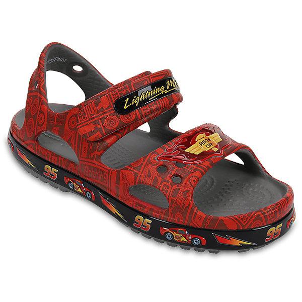 Сандалии Kids Crocband II Lightning McQueen Sandal CROCSПляжная обувь<br>Характеристики товара:<br><br>• цвет: красный<br>• принт: Ралли<br>• сезон: лето<br>• материал: 100% полимер Croslite™<br>• бактериостатичный материал<br>• ремешок фиксирует стопу<br>• антискользящая устойчивая подошва<br>• анатомическая стелька с массажными точками<br>• страна бренда: США<br>• страна изготовитель: Китай<br><br>Для правильного развития ребенка крайне важно, чтобы обувь была удобной.<br><br>Такие сандалии обеспечивают детям необходимый комфорт, а анатомическая стелька с массажными линиями для стимуляции кровообращения позволяет ножкам дольше не уставать. <br><br>Сандалии легко надеваются и снимаются, отлично сидят на ноге. <br><br>Материал, из которого они сделаны, не дает размножаться бактериям, поэтому такая обувь препятствует образованию неприятного запаха и появлению болезней стоп. <br><br>Обувь от американского бренда Crocs в данный момент завоевала широкую популярность во всем мире, и это не удивительно - ведь она невероятно удобна. <br><br>Сандалии Kids Crocband II Lightning McQueen Sandal от торговой марки Crocs можно купить в нашем интернет-магазине.<br>Ширина мм: 219; Глубина мм: 154; Высота мм: 121; Вес г: 343; Цвет: красный; Возраст от месяцев: 15; Возраст до месяцев: 18; Пол: Мужской; Возраст: Детский; Размер: 22,27,26,25,24,23,21,30,29,28; SKU: 5416605;
