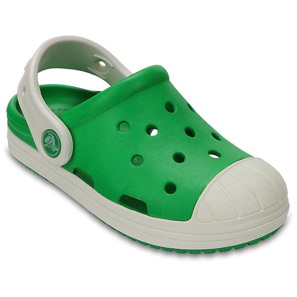 Сабо Kids' Crocs Bump It Clog, зеленыйПляжная обувь<br>Характеристики товара:<br><br>• цвет: зеленый<br>• материал: 100% полимер Croslite™<br>• литая модель<br>• вентиляционные отверстия<br>• стильный дизайн<br>• пяточный ремешок фиксирует стопу<br>• толстая устойчивая подошва<br>• страна бренда: США<br>• страна изготовитель: Китай<br><br>Сабо Kids' Crocs обеспечивают детям необходимый комфорт, а анатомическая стелька с массажными линиями для стимуляции кровообращения позволяет ножкам дольше не уставать. <br><br>Сабо легко надеваются и снимаются, отлично сидят на ноге. <br><br>Материал Croslite™ - это патентованная пена с закрытыми ячейками, обладающая удивительными свойствами. Она присутствует в каждой паре обуви Crocs™, придавая ей характерную упругость, неповторимый комфорт и ощущение свободы.<br><br>Изделие производится из качественных и проверенных материалов, которые безопасны для детей.<br>Ширина мм: 225; Глубина мм: 139; Высота мм: 112; Вес г: 290; Цвет: зеленый; Возраст от месяцев: 24; Возраст до месяцев: 24; Пол: Унисекс; Возраст: Детский; Размер: 29,34/35,33/34,31/32,26,25,24,23,30,28,27; SKU: 5416733;