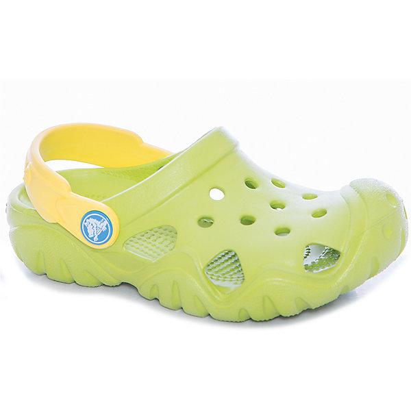 Сабо Kids Classic, CROCS, зеленыйПляжная обувь<br>Характеристики товара:<br><br>• цвет: зеленый<br>• сезон: лето<br>• тип: пляжная обувь<br>• материал: 100% полимер Croslite™<br>• под воздействием температуры тела принимают форму стопы<br>• полностью литая модель<br>• вентиляционные отверстия<br>• бактериостатичный материал<br>• пяточный ремешок фиксирует стопу<br>• толстая устойчивая подошва<br>• анатомическая стелька с массажными точками<br>• страна бренда: США<br>• страна изготовитель: Китай<br><br>Для правильного развития ребенка крайне важно, чтобы обувь была удобной.<br><br>Такие сабо обеспечивают детям необходимый комфорт, а анатомическая стелька с массажными линиями для стимуляции кровообращения позволяет ножкам дольше не уставать. <br><br>Сабо легко надеваются и снимаются, отлично сидят на ноге. <br><br>Материал, из которого они сделаны, не дает размножаться бактериям, поэтому такая обувь препятствует образованию неприятного запаха и появлению болезней стоп.<br><br>Обувь от американского бренда Crocs в данный момент завоевала широкую популярность во всем мире, и это не удивительно - ведь она невероятно удобна. <br><br>Продукция Crocs - это качественные товары, созданные с применением новейших технологий.<br><br>Сабо Kids Classic от торговой марки Crocs можно купить в нашем интернет-магазине.<br>Ширина мм: 225; Глубина мм: 139; Высота мм: 112; Вес г: 290; Цвет: зеленый; Возраст от месяцев: 24; Возраст до месяцев: 36; Пол: Унисекс; Возраст: Детский; Размер: 26,33/34,31/32,25,24,23,30,29,28,27,34/35; SKU: 5417081;