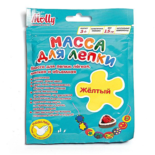 Масса для лепки 15 г, желтаяМасса для лепки<br>Характеристики товара:<br><br>• материал упаковки: пластик <br>• в комплект входит: масса для лепки<br>• количество цветов: 1<br>• возраст: от 3 лет<br>• габариты упаковки: 10х0,8х15 см<br>• вес: 15 г<br>• страна производитель: Россия<br><br>Работа с материалами для лепки благотворно влияет на развитие малыша. Лепка развивает тактильные восприятия, работает с мелкой моторикой и творческими способностями. Итог лепки – яркая и необычная игрушка, сделанная своими руками. Материалы, использованные при изготовлении товаров, проходят проверку на качество и соответствие международным требованиям по безопасности.<br><br>Готовые поделки можно высушить на открытом воздухе в течение 12-36 часов без применения обжига. При этом масса не трескается и не крошится. <br><br>Массу для лепки 15 г, желтая можно купить в нашем интернет-магазине.<br>Ширина мм: 100; Глубина мм: 8; Высота мм: 150; Вес г: 15; Возраст от месяцев: 36; Возраст до месяцев: 144; Пол: Унисекс; Возраст: Детский; SKU: 5417581;