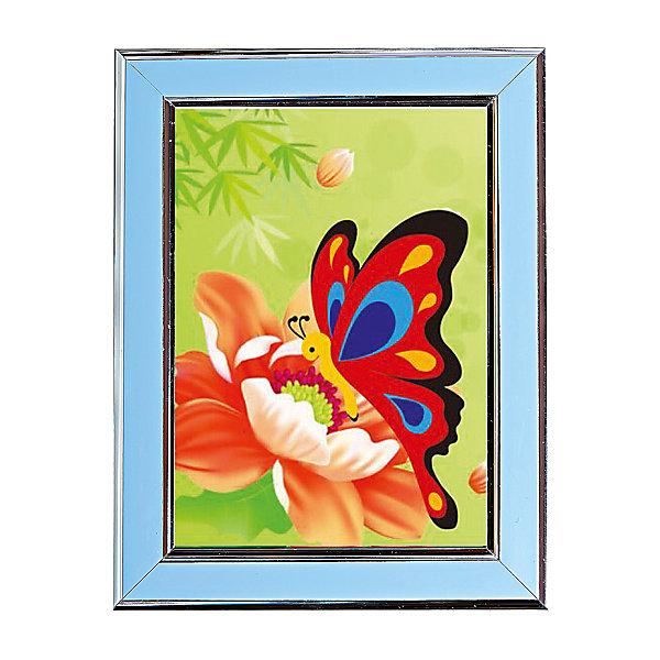 Мозаичная картина БабочкаАлмазная вышивка<br>Мозаичная картина Бабочка. <br><br>Характеристика: <br><br>• Материал: картон, пластик, клей. <br>• Размер картинки: 17х21 см. <br>• Размер мозаичного элемента: 2,5 мм. <br>• Комплектация: контейнер для элементов мозаики, мозаичные элементы, специальный клеевой карандаш, трафарет со схемой рисунка, декоративная пластиковая рамка с оргстеклом. <br>• Яркие, насыщенные цвета. <br>• Отлично развивает моторику рук, внимание, мышление и воображение. <br><br>Создание картины из мозаики - увлекательное и полезное занятие, в процессе которого ребенок сможет развить моторику рук, внимание, усидчивость, цветовосприятие и воображение. В этом наборе уже есть все для создания маленького шедевра! Нужно лишь приклеить мозаичные элементы на основу с нанесенным контуром - и яркая картинка готова.<br><br>Мозаичную картину Бабочка можно купить в нашем магазине.<br>Ширина мм: 200; Глубина мм: 225; Высота мм: 30; Вес г: 250; Возраст от месяцев: 84; Возраст до месяцев: 36; Пол: Унисекс; Возраст: Детский; SKU: 5417621;