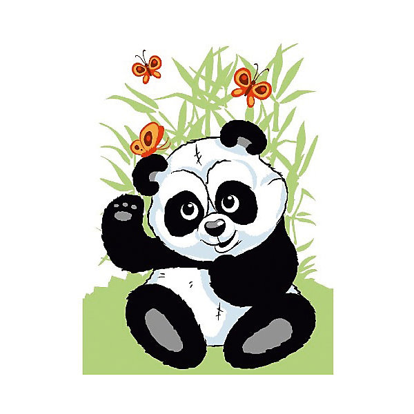 Molly Набор юного художника Панда с бабочками, 20*30 см панда 30 см