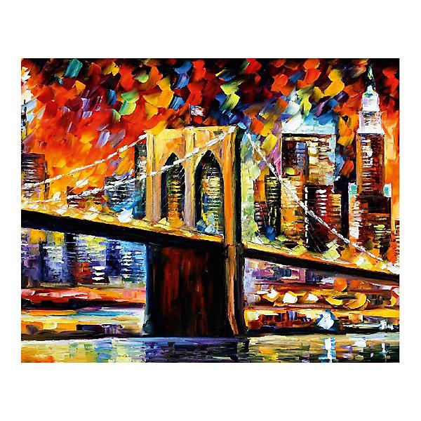 Molly Картина по номерам Афремов: Бруклинский мост, 40*50 см набор для раскрашивания по номерам molly афремов ночь в праге 50 х 40 см