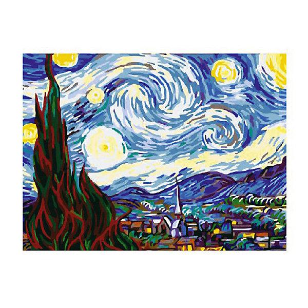 Картина по номерам Ван Гог: Звездная ночь, 40*50 смКартины по номерам<br>Характеристики товара:<br><br>• материал упаковки: картон <br>• в комплект входит: холст, акриловые краски, 3 кисти<br>• количество красок: 24<br>• возраст: от 8 лет<br>• вес: 730 г<br>• размер картинки: 40х50 см<br>• габариты упаковки: 40х50х4 см<br>• страна производитель: Китай<br><br>Наборы для создания картин по номерам совсем недавно появились на рынке, но уже успели завоевать популярность. Закрашивая черно-белые места на картинке, ребенок получит полноценную картину и развитие художественного мастерства. Материалы, использованные при изготовлении товаров, проходят проверку на качество и соответствие международным требованиям по безопасности. <br><br>Картину по номерам Ван Гог: Звездная ночь, 40*50 см можно купить в нашем интернет-магазине.<br>Ширина мм: 500; Глубина мм: 400; Высота мм: 40; Вес г: 730; Возраст от месяцев: 108; Возраст до месяцев: 2147483647; Пол: Унисекс; Возраст: Детский; SKU: 5417698;