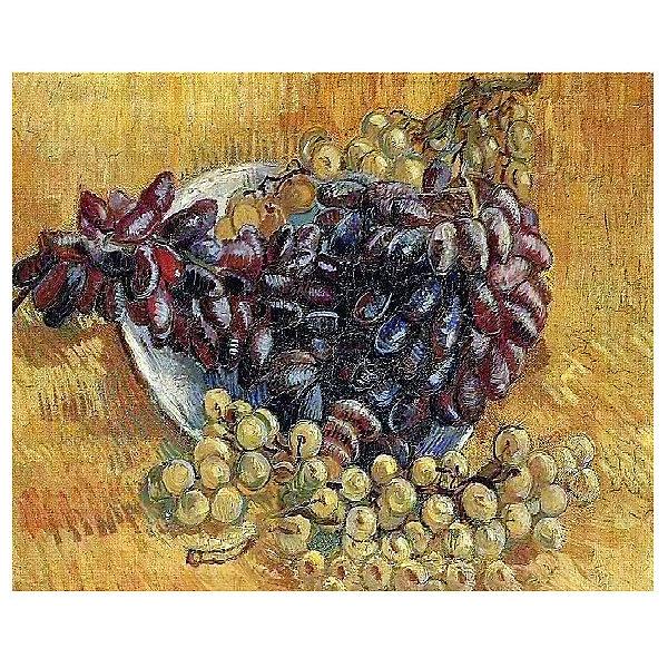 Molly Картина по номерам Ван Гог: Натюрморт с виноградом, 40*50 см