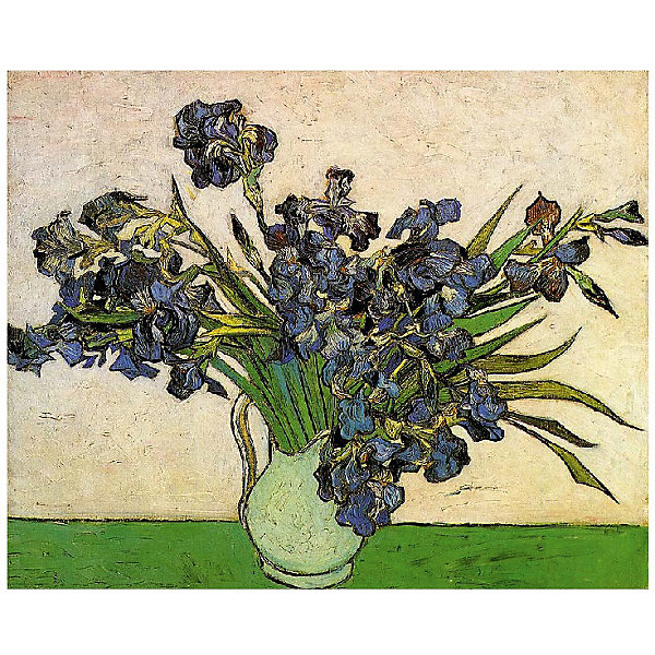 Molly Картина по номерам Ван Гог: Ирисы в вазе, 40*50 см картина по номерам 40 x 50 см ktmk 393605