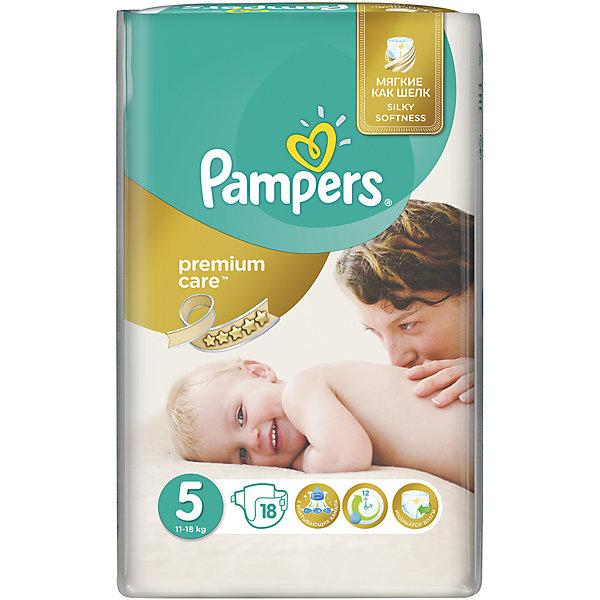 Фотография товара подгузники Pampers Premium Care, 11-18 кг, 5 размер, 18 шт., Pampers (5419022)