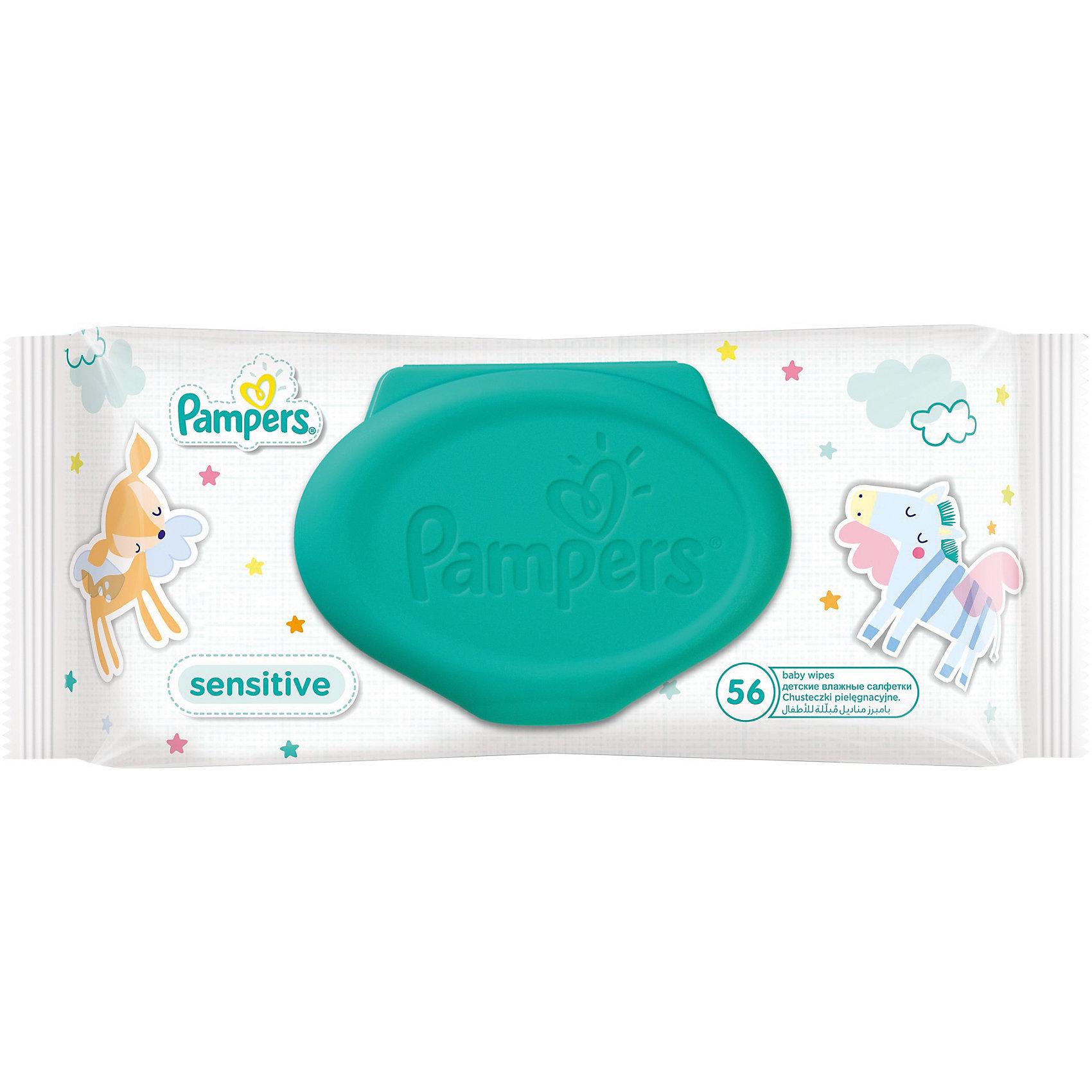 Салфетки детские влажные Pampers  Sensitive, 56 шт., Pampers