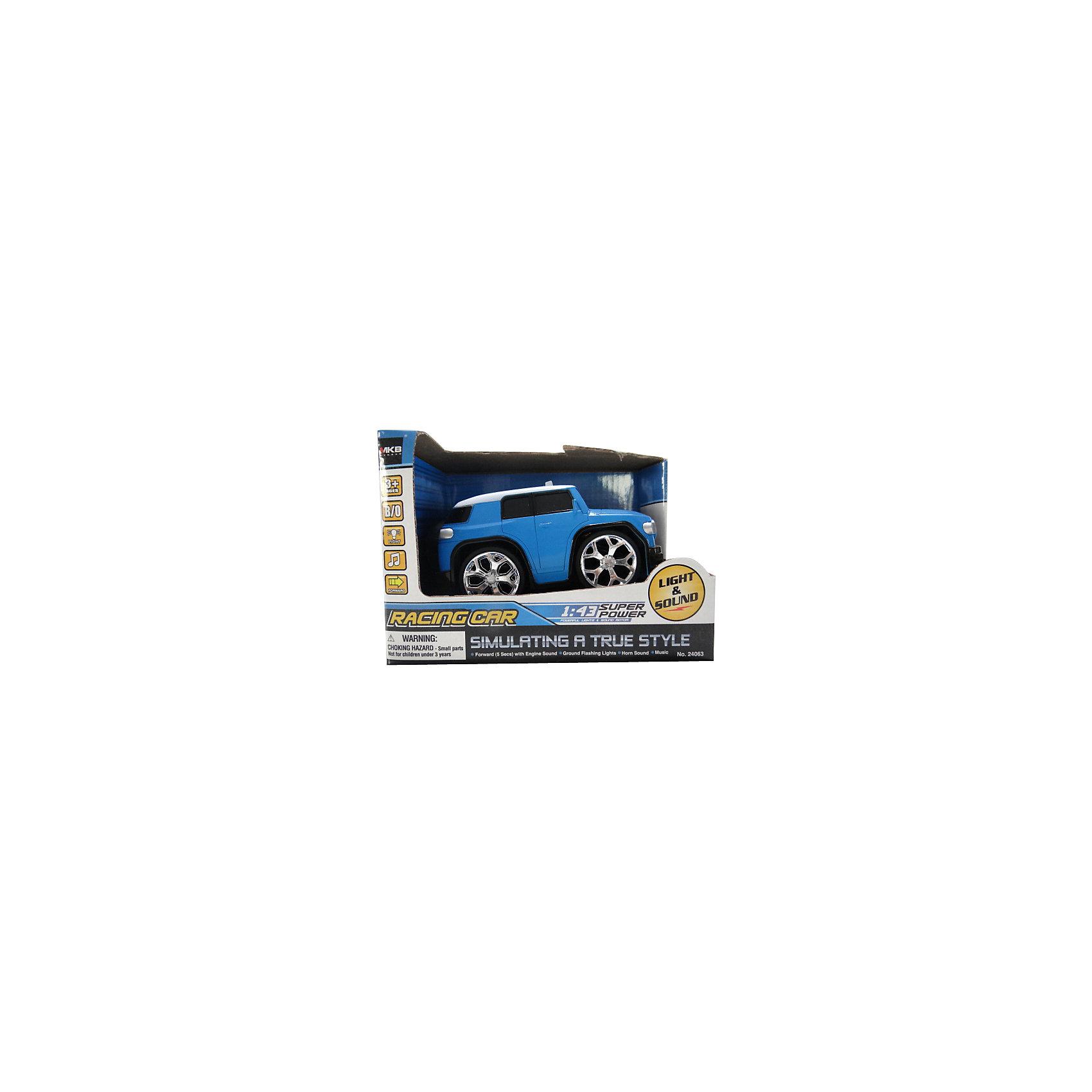 Машинка интерактивная со светом и звуком, синяя, Blue Sea