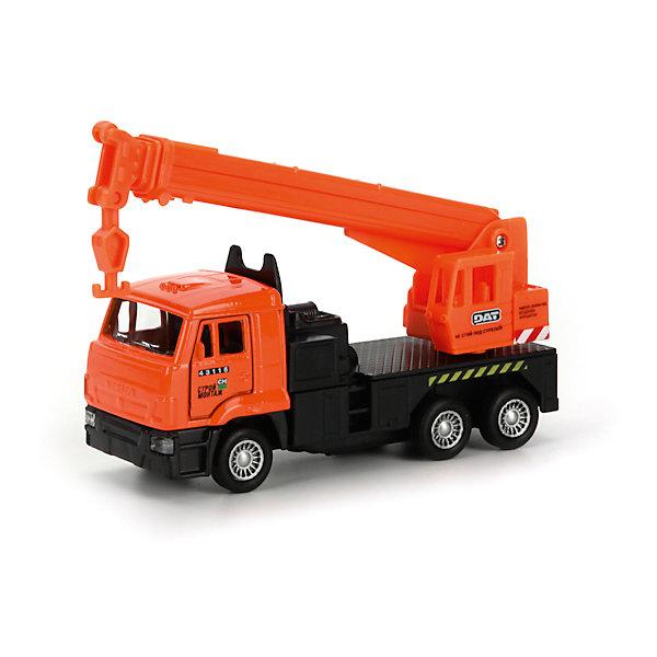 Машина Камаз Кран, ТЕХНОПАРКМашинки<br>Характеристики:<br><br>• тип игрушки: машина;<br>• возраст: от 3 лет;<br>• размер: 5х18х16 см;<br>• цвет: оранжевый;<br>• материал: металл, пластик;<br>• бренд: Технопарк;<br>• страна производителя: Китай.<br><br>Машина Технопарк «Камаз Кран» станет отличным подарком ребенку. Машинка имеет звуковые и световые эффекты.<br><br>Тематические игры с интересными сюжетами разбудят воображение ребёнка, а манипуляции с игрушкой потренируют мелкую моторику пальцев рук. Масштабные модели от компании «Технопарк» отличаются качественными ударопрочными материалами, продлевающими долговечность изделия тщательным исполнением со вниманием ко всем деталям, и имеют требуемые сертификаты соответствия для детских игрушек.<br><br>Машину Технопарк  «Камаз Кран» можно купить в нашем интернет-магазине.<br>Ширина мм: 50; Глубина мм: 140; Высота мм: 170; Вес г: 170; Возраст от месяцев: 36; Возраст до месяцев: 84; Пол: Мужской; Возраст: Детский; SKU: 5420359;