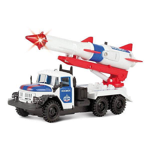 Машина ЗИЛ 131, ракета космос, свет+звук, ТЕХНОПАРКМашинки<br>Характеристики:<br><br>• тип игрушки: машина;<br>• возраст: от 3 лет;<br>• размер: 6х15х21 см;<br>• цвет: белый;<br>• масштаб: 1:43;<br>• материал: металл, пластик;<br>• бренд: Технопарк;<br>• страна производителя: Китай.<br><br> Машина Технопарк «ЗИЛ 131» выполнена в масштабе 1:43, с инерционным механизмом, с поднимающейся ракетой, со светящимися фарами, звуковыми сигналами, открывающимися дверцами и капотом.<br><br>Тематические игры с интересными сюжетами разбудят воображение ребёнка, а манипуляции с игрушкой потренируют мелкую моторику пальцев рук. Масштабные модели от компании «Технопарк» отличаются качественными ударопрочными материалами, продлевающими долговечность изделия тщательным исполнением со вниманием ко всем деталям, и имеют требуемые сертификаты соответствия для детских игрушек.<br><br>Машину Технопарк «ЗИЛ 131» можно купить в нашем интернет-магазине.<br>Ширина мм: 70; Глубина мм: 160; Высота мм: 210; Вес г: 210; Возраст от месяцев: 36; Возраст до месяцев: 84; Пол: Мужской; Возраст: Детский; SKU: 5420393;