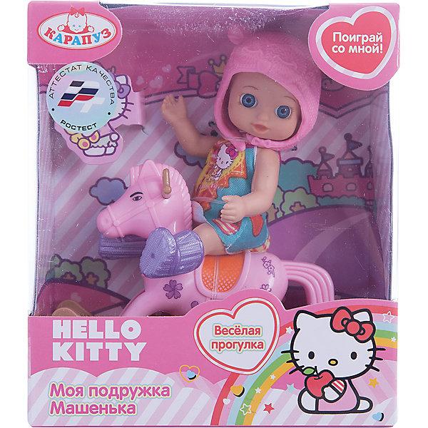 Карапуз Кукла HELLO KITTY, с аксессурами, 12 см, Карапуз карапуз пупс озвученный hello kitty цвет одежды розовый