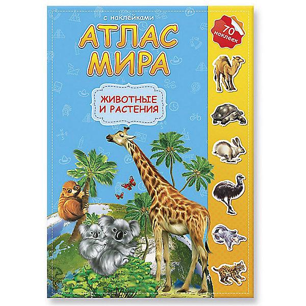 ГеоДом Атлас мира с наклейками Животные и растения азбукварик животные и растения 01409 1