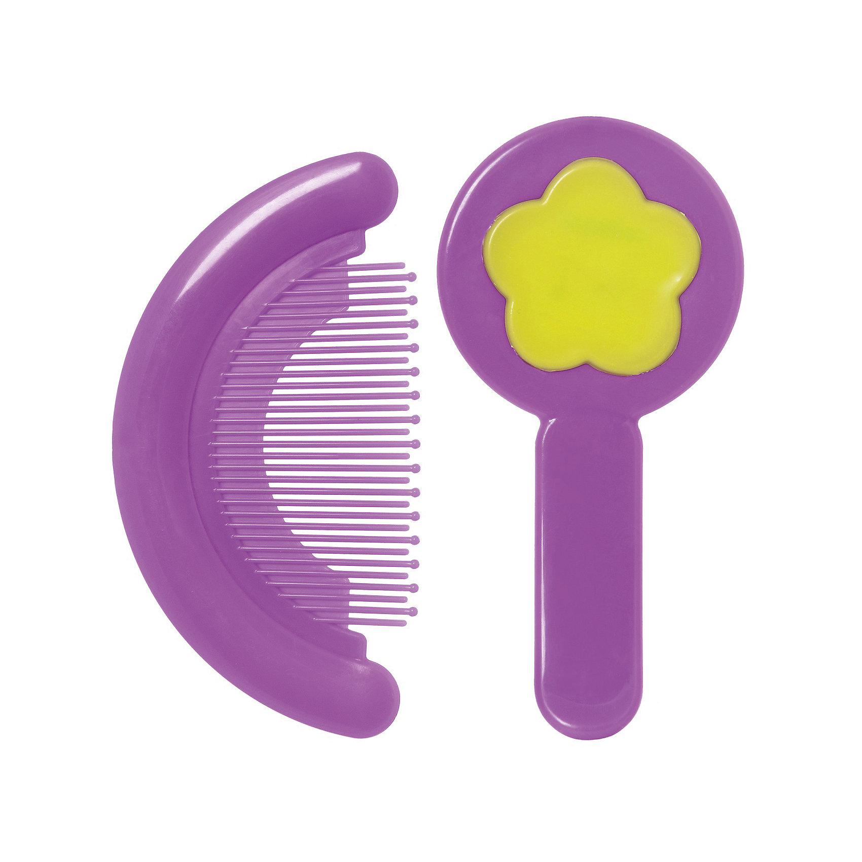Курносики Набор: расческа и щетка, Kurnosiki, фиолетовый