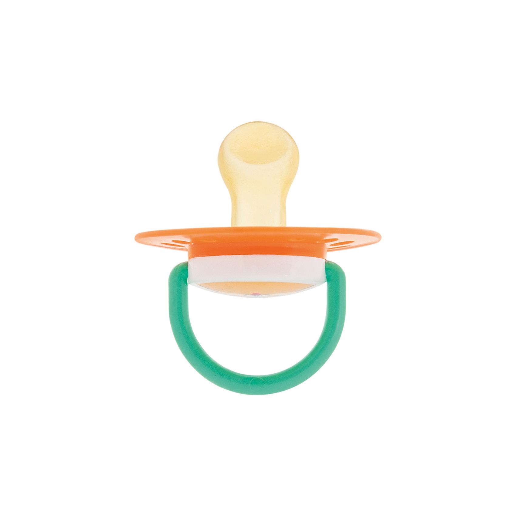 Курносики Пустышка латексная ортодонтическая 0+ Любимчик, Kurnosiki, оранжевый