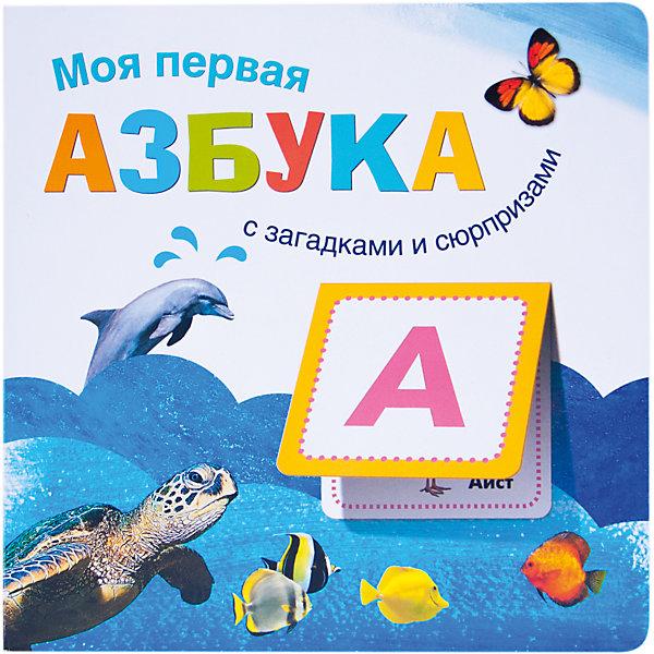 Моя первая азбука, Мозаика-СинтезАзбуки<br>Книга Моя первая азбука, Мозаика-Синтез.<br><br>Характеристики:<br><br>• Издательство: МОЗАИКА-СИНТЕЗ<br>• ISBN: 9785431508776<br>• Тип: книга.<br>• Серия: речь, грамота, чтение.<br>• Возраст: 2-5 лет.<br>• Размер книги: 210х210 мм.<br>• Количество страниц: 16<br><br>Яркая книга «Моя первая азбука» серии «Книжки с загадками и сюрпризами» в игровой форме поможет ребенку выучить алфавит. Внутри малыша ждет множество забавных загадок, отгадки на которые он найдет под клапанами-сюрпризами. Закрепить новые знания ему помогут веселые стихи и яркие фотографии животных. <br><br>Книги серии «Книжки с загадками и сюрпризами» выполнены из плотного картона, поэтому долго будут радовать ребенка. Занятия по ним способствуют развитию памяти, внимания, речи и мышления, расширению представлений об окружающем мире.<br><br>Книга Моя первая азбука, Мозаика-Синтез, можно купить в нашем интернет – магазине.<br>Ширина мм: 8; Глубина мм: 210; Высота мм: 210; Вес г: 318; Возраст от месяцев: 24; Возраст до месяцев: 60; Пол: Унисекс; Возраст: Детский; SKU: 5428900;