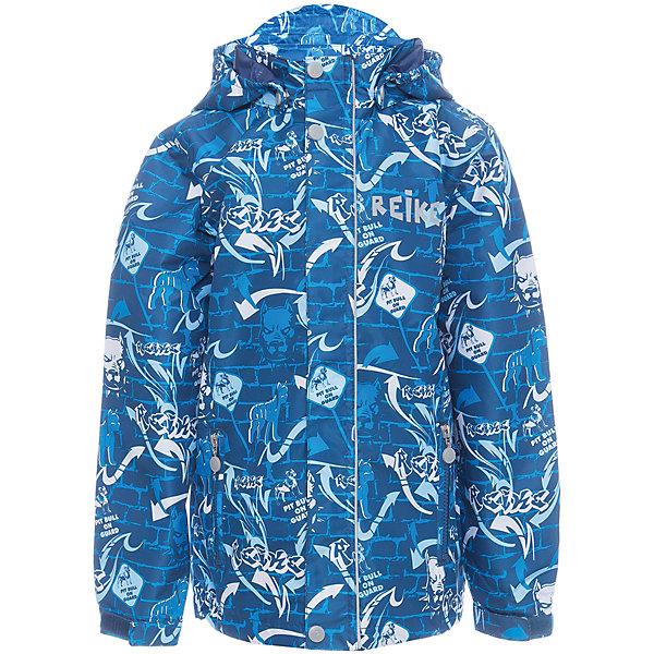 Куртка Reike для мальчикаОдежда<br>Характеристики товара:<br><br>• цвет: синий<br>• состав: 100% полиэстер<br>• подкладка: 100% полиэстер<br>• без утеплителя<br>• температурный режим: от +10° С до +20° С<br>• из ветрозащитного, водонепроницаемого материала<br>• позволяет телу дышать<br>• воздухопроницаемость: 2000гр/м2/24 ч<br>• водоотталкивающее покрытие: 2000 мм<br>• застежка: молния<br>• планка от ветра на кнопках<br>• съёмный капюшон на кнопках<br>• два кармана на молнии<br>• светоотражающий элемент<br>• манжеты на резинке дополнительно регулируются с помощью липучек<br>• страна бренда: Финляндия<br><br>Демисезонная одежда может быть очень красивой и удобной! Новая коллекция от известного финского производителя Reike отличается ярким дизайном, продуманностью и комфортом! Эта модель разработана специально для детей - она учитывает особенности их физиологии, а также новые тенденции в европейской моде. Стильная и удобная вещь!<br><br>Куртку для мальчика от популярного бренда Reike можно купить в нашем интернет-магазине.<br>Ширина мм: 356; Глубина мм: 10; Высота мм: 245; Вес г: 519; Цвет: синий; Возраст от месяцев: 96; Возраст до месяцев: 108; Пол: Мужской; Возраст: Детский; Размер: 134,128,140,146,152; SKU: 5430015;