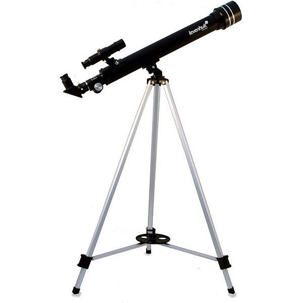 Телескоп Levenhuk Skyline 50x600 AZТелескопы<br>Характеристики товара:<br><br>• материал: металл, пластик<br>• тип телескопа: рефлектор<br>• максимальное полезное увеличение: 100 крат<br>• светосила (относительное отверстие): f/12<br>• проницающая способность: (звездная величина, приблизительно) 11,1<br>• окуляры в комплекте: 20 мм, 12,5 мм, 4 мм, оборачивающий окуляр 1,5x<br>• посадочный диаметр окуляров: 0,96<br>• линза Барлоу в комплекте 3x<br>• искатель оптический: 65х24<br>• высота треноги регулируемая: 690–1190 мм<br>• тип управления телескопом: ручной<br>• тип монтировки: азимутальная<br>• вес: 1,6 кг<br>• страна бренда: США<br>• страна производства: КНР<br><br>Телескоп - это отличный способ заинтересовать ребенка наблюдениями за небесными телами и привить ему интерес к учебе. Эта модель была разработана специально для детей - он позволяет увеличивать предметы из космоса и изучать их. Благодаря легкому и прочному корпусу телескоп удобно брать с собой!<br><br>Оптические приборы от американской компании Levenhuk уже успели зарекомендовать себя как качественная и надежная продукция. Для их производства используются только безопасные и проверенные материалы. Такой прибор способен прослужить долго. Подарите ребенку интересную и полезную вещь!<br><br>Телескоп Levenhuk Skyline 50x600 AZ от известного бренда Levenhuk (Левенгук) можно купить в нашем интернет-магазине.<br>Ширина мм: 823; Глубина мм: 175; Высота мм: 96; Вес г: 1600; Возраст от месяцев: 60; Возраст до месяцев: 2147483647; Пол: Унисекс; Возраст: Детский; SKU: 5435300;