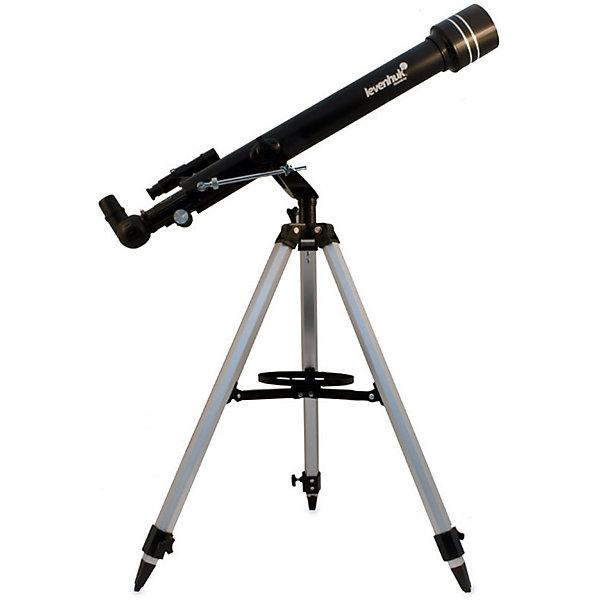 Телескоп Levenhuk Skyline 60x700 AZТелескопы<br>Характеристики товара:<br><br>• материал: металл, пластик<br>• тип телескопа: рефрактор<br>• максимальное полезное увеличение: 120 крат<br>• светосила (относительное отверстие): f/12<br>• проницающая способность: (звездная величина, приблизительно) 11,4<br>• окуляры в комплекте: 20 мм, 4 мм<br>• посадочный диаметр окуляров: 1,25<br>• линза Барлоу в комплекте 3x<br>• искатель оптический: 5x24<br>• высота треноги регулируемая: 690–1190 мм<br>• тип управления телескопом: ручной<br>• тип монтировки: азимутальная<br>• вес: 3,65 кг<br>• страна бренда: США<br>• страна производства: КНР<br><br>Телескоп - это отличный способ заинтересовать ребенка наблюдениями за небесными телами и привить ему интерес к учебе. Эта модель была разработана специально для детей - он позволяет увеличивать предметы из космоса и изучать их. Благодаря легкому и прочному корпусу телескоп удобно брать с собой!<br><br>Оптические приборы от американской компании Levenhuk уже успели зарекомендовать себя как качественная и надежная продукция. Для их производства используются только безопасные и проверенные материалы. Такой прибор способен прослужить долго. Подарите ребенку интересную и полезную вещь!<br><br>Телескоп Levenhuk Skyline 50x600 AZ от известного бренда Levenhuk (Левенгук) можно купить в нашем интернет-магазине.<br>Ширина мм: 828; Глубина мм: 248; Высота мм: 165; Вес г: 3650; Возраст от месяцев: 60; Возраст до месяцев: 2147483647; Пол: Унисекс; Возраст: Детский; SKU: 5435301;