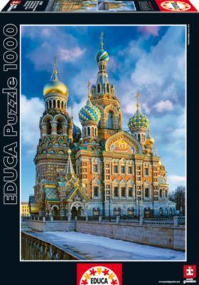 Пазл Храм Спас на Крови, Санкт-Петербург, 1000 деталей, Educa