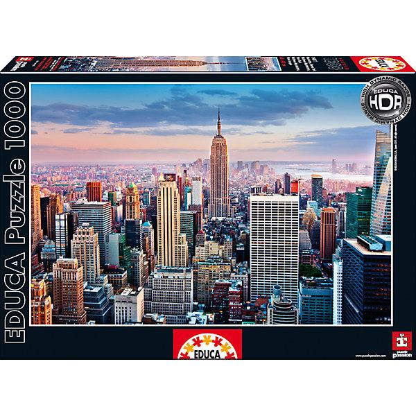 Educa Пазл Манхеттен, Нью-Йорк, 1000 деталей, Educa пазл корабли карл уорнер рыжий кот 1000 деталей