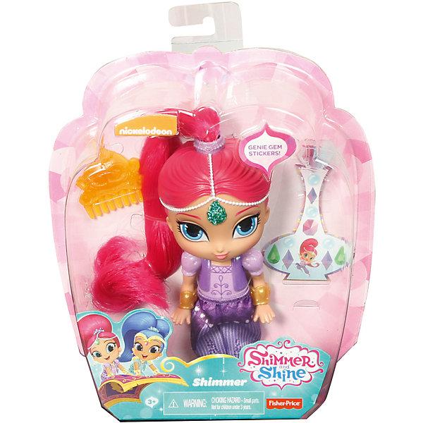 Мини-кукла Fisher-Price «Шиммер и Шайн» Шиммер, 14 смМини-куклы<br>Характеристики:<br><br>• возраст: от 3 лет;<br>• материал: пластик, текстиль;<br>• герои: Шиммер;<br>• особенности: можно причесывать;<br>• комплектация: мини-кукла, расческа, наклейки.<br>• высота куклы: 14 см;<br>• размер упаковки: 21х18х7 см;<br>• вес упаковки: 184 гр.;<br>• страна бренда: США.<br><br>Мини-куклу Shimmer&amp;Shine (Шиммер и Шайн) Шимер одета в фиолетовый наряд и обувь, а золотые браслеты прекрасно дополняют образ куколки. В комплект входят различные аксессуары, с помощью которых за куклой можно ухаживать.<br><br>Мини-кукла Fisher-Price (Фишер Прайс) «Шиммер и Шайн» Шиммер, 14 см можно приобрести в нашем интернет-магазине.<br>Ширина мм: 170; Глубина мм: 65; Высота мм: 190; Вес г: 184; Возраст от месяцев: 36; Возраст до месяцев: 120; Пол: Женский; Возраст: Детский; SKU: 5440248;