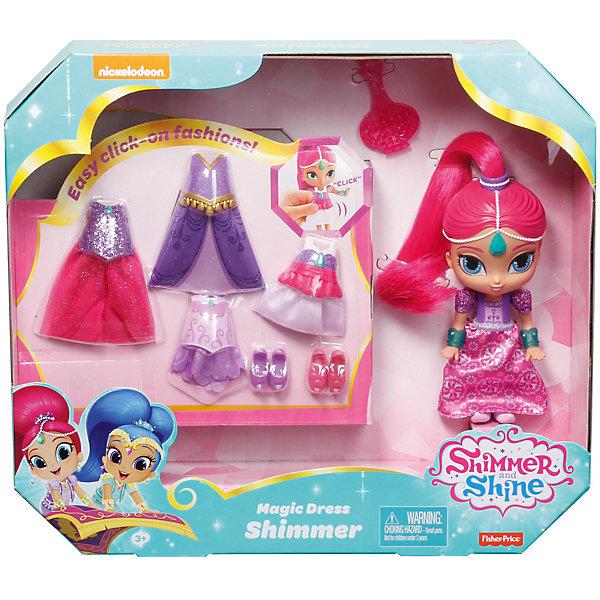 Мини-кукла Fisher-Price «Шиммер и Шайн» Шиммер в сверкающем наряде, 16 смМини-куклы<br>Характеристики:<br><br>• возраст: от 3 лет;<br>• комплектация: кукла с аксессуарами;<br>• герои: Шиммер;<br>• высота куклы: 16 см;<br>• упаковка: картонная коробка блистерного типа;<br>• вес упаковки: 486 гр.;<br>• размер упаковки: 7х33х28 см;<br>• страна бренда: США.<br><br>Мини-кукла Fisher-Price (Фишер Прайс) «Шиммер и Шайн» Шиммер - это маленькая голубоглазая девочка-джин с розовыми волосами, которая всегда весела и жизнерадостна. Очень любит блистательные наряды, поэтому в комплекте с игрушкой есть 4 платья, юбочка, 3 пары туфель и расческа, что позволит девочкам устраивать показы мод и выступления.<br><br>Мини-куклу Fisher-Price (Фишер Прайс) «Шиммер и Шайн» Шиммер в сверкающем наряде, 16 см можно приобрести в нашем интернет-магазине.<br>Ширина мм: 330; Глубина мм: 75; Высота мм: 280; Вес г: 486; Возраст от месяцев: 36; Возраст до месяцев: 120; Пол: Женский; Возраст: Детский; SKU: 5440252;