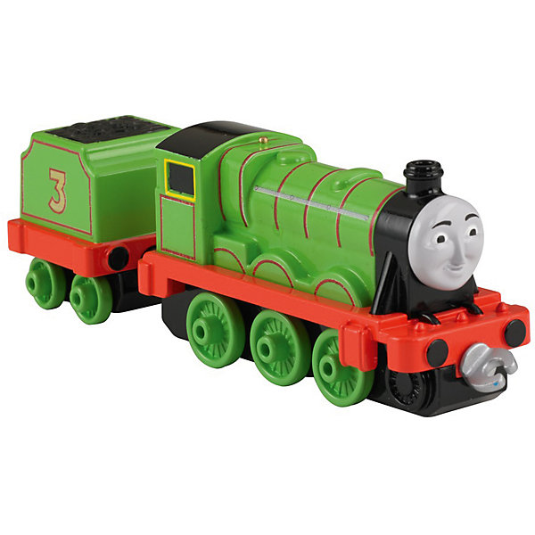 Большой паровозик, Томас и его друзьяЖелезные дороги<br>Большой паровозик, Томас и его друзья.<br><br>Характеристики:<br><br>• Материал: пластик, металл<br>• Размер упаковки: 19х11,5х3 см.<br>• Вес: 380 гр.<br><br>Большой паровозик Генри создан по мотивам мультфильма Томас и его друзья, невероятно популярного среди миллионов детей во всем мире. Паровозик отличается высокой степенью детализации и соответствия своему экранному прототипу. При движении позади транспортного средства забавно покачивается вагон-прицеп с грузом. <br><br>Надежные пластиковые соединения позволяют присоединять к паровозику вагончики, тендеры и другие паровозики из серии «Томас и друзья». Игрушка станет отличным подарком для поклонников мультсериала «Томас и друзья», а также для любителей железных дорог! Паровозик изготовлен из высококачественных материалов, используемые красители не содержат токсичных компонентов и полностью безопасны для здоровья ребенка.<br><br>Большой паровозик, Томас и его друзья можно купить в нашем интернет-магазине.<br>Ширина мм: 190; Глубина мм: 35; Высота мм: 115; Вес г: 54; Возраст от месяцев: 36; Возраст до месяцев: 120; Пол: Мужской; Возраст: Детский; SKU: 5440305;