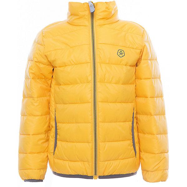 Куртка  Color KidsВерхняя одежда<br>Характеристики товара:<br><br>• цвет: жёлтый<br>• состав: 100 % полиэстер<br>• подкладка: 100 % полиэстер<br>• утеплитель: 160г/м синтепон<br>• температурный режим: от -5° С до +10°С<br>• светоотражающие детали<br>• застежка: молния<br>• защита подбородка<br>• два кармана<br>• логотип<br>• комфортная посадка<br>• страна бренда: Дания<br><br>Эта симпатичная и удобная куртка отлично подойдет для ношения в межсезонье. Она комфортно сидит и обеспечивает ребенку необходимое удобство. Очень стильно смотрится.<br><br>Куртку от датского бренда Color Kids (Колор кидз) можно купить в нашем интернет-магазине.<br>Ширина мм: 356; Глубина мм: 10; Высота мм: 245; Вес г: 519; Цвет: желтый; Возраст от месяцев: 24; Возраст до месяцев: 36; Пол: Унисекс; Возраст: Детский; Размер: 98,104,92,152,140,128,122,116,110; SKU: 5443136;