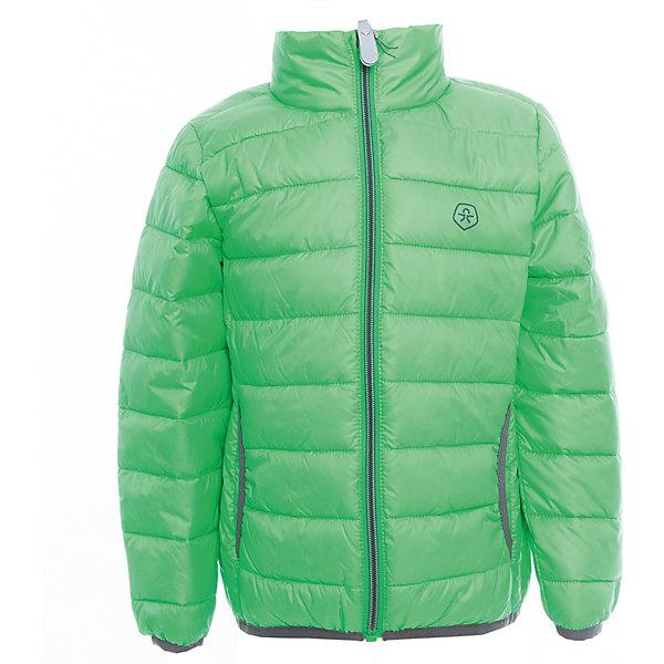 Куртка  Color KidsВерхняя одежда<br>Характеристики товара:<br><br>• цвет: зелёный<br>• состав: 100 % полиэстер<br>• подкладка: 100 % полиэстер<br>• утеплитель: 160г/м синтепон<br>• температурный режим: от -5° С до +10°С<br>• светоотражающие детали<br>• застежка: молния<br>• защита подбородка<br>• два кармана<br>• логотип<br>• комфортная посадка<br>• страна бренда: Дания<br><br>Эта симпатичная и удобная куртка отлично подойдет для ношения в межсезонье. Она комфортно сидит и обеспечивает ребенку необходимое удобство. Очень стильно смотрится.<br><br>Куртку от датского бренда Color Kids (Колор кидз) можно купить в нашем интернет-магазине.<br>Ширина мм: 356; Глубина мм: 10; Высота мм: 245; Вес г: 519; Цвет: зеленый; Возраст от месяцев: 36; Возраст до месяцев: 48; Пол: Унисекс; Возраст: Детский; Размер: 104,98,92,152,140,128,122,116,110; SKU: 5443146;