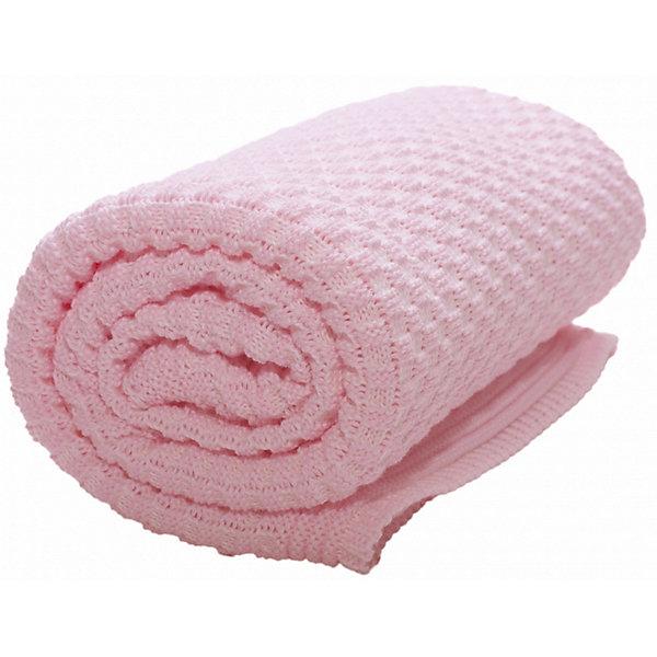 Wallaboo Плед хб вязаный, 70х90, Wallaboo, нежно-розовый плед сruise welcom