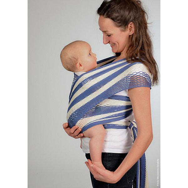 Filt Слинг-шарф из хлопка плетеный размер s-m, Филап, Filt, сине-бежевый