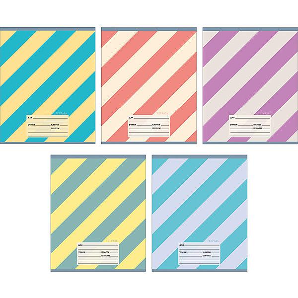 Комплект тетрадей Полосатая серия (10 шт), 18 листов, Канц-ЭксмоТетради<br>Характеристики комплекта тетрадей Полосатая серия:<br><br>• размеры: 20.2х16.3х3.5 см<br>• количество листов: 18 шт.<br>• разлиновка: линейка<br>• формат: А 5 <br>• комплектация: тетрадь<br>• бумага: офсет, плотностью 60 г/м2.<br>• обложка: мелованный картон <br>• бренд: Канц-Эксмо<br>• страна бренда: Россия<br>• страна производителя: Россия<br><br>Комплект тетрадей Полосатая серия от производителя Канц-Эксмо выполнен в формате А5. Количество листов 18, тетради в линейку с полями. Крепление: скрепка. Обложка у изделий плотная - мелованный картон, выборочный лак <br><br>Комплект тетрадей Полосатая серия от производителя Канц-Эксмо можно купить в нашем интернет-магазине.<br>Ширина мм: 210; Глубина мм: 165; Высота мм: 20; Вес г: 52; Возраст от месяцев: 72; Возраст до месяцев: 2147483647; Пол: Унисекс; Возраст: Детский; SKU: 5448385;