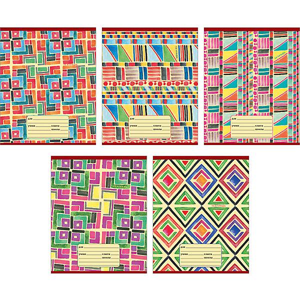 Комплект тетрадей Красочный калейдоскоп (10 шт), 24 листа, Канц-ЭксмоТетради<br>Характеристики комплекта тетрадей Красочный калейдоскоп:<br><br>• размеры: 20.2х16.3х3.5 см<br>• количество листов: 24 шт.<br>• разлиновка: клетка<br>• формат: А 5 <br>• комплектация: тетрадь<br>• бумага: офсет, плотностью 60 г/м2.<br>• Бренд: Канц-Эксмо<br>• страна бренда: Россия<br>• страна производителя: Россия<br><br>Комплект тетрадей Красочный калейдоскоп от производителя Канц-Эксмо выполнен в формате А5. Количество листов 24, тетради в клетку с полями. Крепление: скрепка. Обложка у изделий плотная - мелованный картон. <br><br>Комплект тетрадей Красочный калейдоскоп от производителя Канц-Эксмо можно купить в нашем интернет-магазине.<br>Ширина мм: 202; Глубина мм: 163; Высота мм: 20; Вес г: 67; Возраст от месяцев: 72; Возраст до месяцев: 2147483647; Пол: Унисекс; Возраст: Детский; SKU: 5448396;