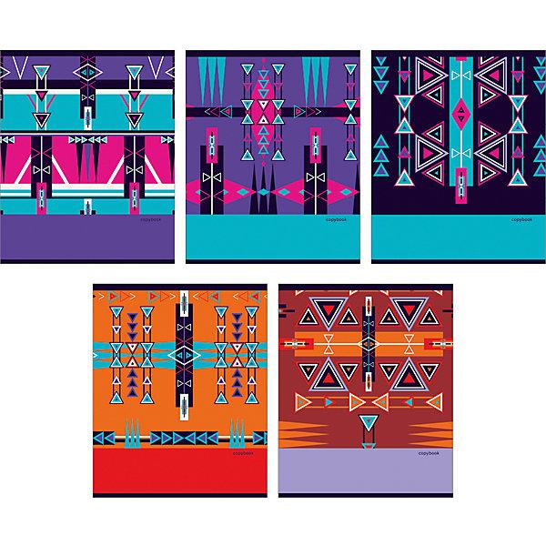 Канц-Эксмо Комплект тетрадей Графические узоры (10 шт), 48 листов, Канц-Эксмо, клетка канц эксмо альбом для рисования канц эксмо гармония цвета 40 листов