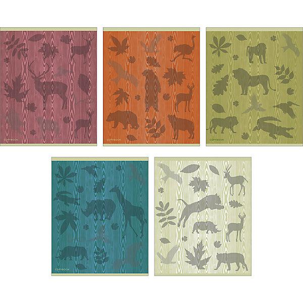 Канц-Эксмо Комплект тетрадей Цвета природы (10 шт), 48 листов, Канц-Эксмо, клетка канц эксмо альбом для рисования канц эксмо гармония цвета 40 листов