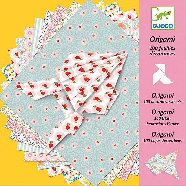 Купить Оригами, 100 листов, DJECO, Франция, Унисекс