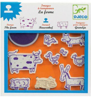 Набор штампов  Ферма , DJECO, артикул:5448807 - Рисование и раскрашивание