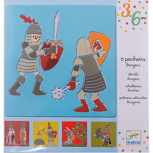 Набор трафаретов «Рыцари», DJECO