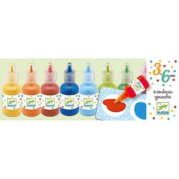 Краски для рисования пальцами, DJECOПальчиковые краски<br>Характеристики красок для рисования пальцами:<br><br>• возраст: от 1 года<br>• пол: универсальный<br>• комплект: 8 баночек с красками.<br>• состав: резина, пластик<br>• размер упаковки: 25 х 9 см.<br>• упаковка: картонная коробка открытого типа.<br>• бренд: Djeco<br>• страна обладатель бренда: Франция.<br><br>Уже с самых ранних лет дети могут учиться рисовать и развивать воображение благодаря ярким краскам от торговой марки Djeco (Джеко). Краски выполнены из качественных ингредиентов на водной основе, безопасны для здоровья Вашего малыша. <br><br>Краски удобно использовать, они упакованы в прозрачные тюбики с закручивающимися крышечками. Легко поддаются смешиванию, их удобно наносить на бумагу. <br><br>Краски для рисования пальцами от торговой марки Djeco (Джеко) можно купить в нашем интернет-магазине.<br>Ширина мм: 260; Глубина мм: 109; Высота мм: 30; Вес г: 538; Возраст от месяцев: 36; Возраст до месяцев: 2147483647; Пол: Унисекс; Возраст: Детский; SKU: 5448813;