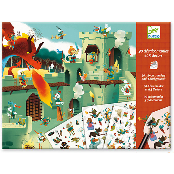 DJECO Набор для творчества Средневековые сказки, DJECO наборы для рисования djeco набор для творчества египетское искусство