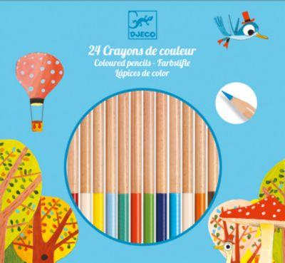 Цветные карандаши 24 шт., DJECO, артикул:5448831 - Рисование и раскрашивание
