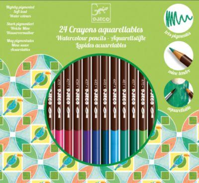Набор акварельных карандашей, 24 шт., DJECO, артикул:5448833 - Рисование и лепка