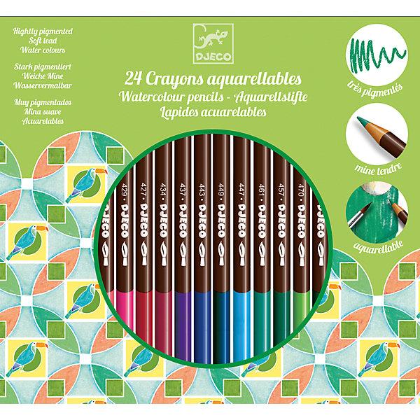 DJECO Набор акварельных карандашей, 24 шт., DJECO набор акварельных карандашей albrecht durer 24 цвета